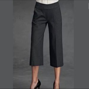 Cabi Ponte Knit Wide Leg cropped pants